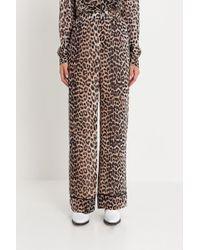Ganni - Pantaloni Pijama Leopardati Mullin - Lyst