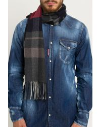 DSquared² - Check&logo Scarf - Lyst