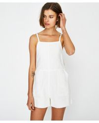RVCA Crush Shorty Overall White