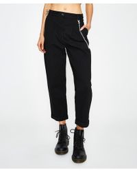 Neon Hart - Pleat Front Crop Pant Black - Lyst
