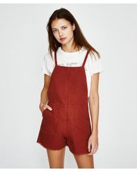 RVCA Crush Shorty Overall Rust