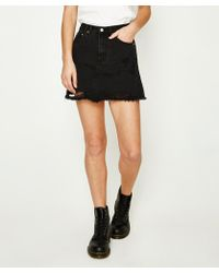 Insight - Sasha A-line Skirt Crushed Black - Lyst