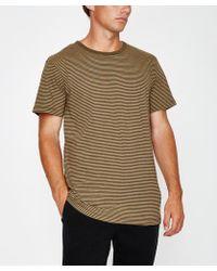 Rhythm - Everyday Stripe Short Sleeve T-shirt Vintage Olive - Lyst