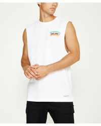 Mitchell & Ness - Triple Double Hwc Muscle Tank San Antonio Spurs White - Lyst