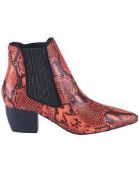 Sol Sana - Ella Boot Red Snake - Lyst