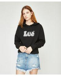 Lee Jeans - Old School Hoodie Solid Black - Lyst