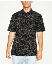 Zanerobe - X Cross Box Short Sleeve Shirt Black - Lyst