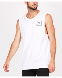 RVCA - Va All The Way Muscle Tank White - Lyst
