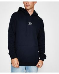 RVCA - Scribe Pullover Hoodie Navy - Lyst