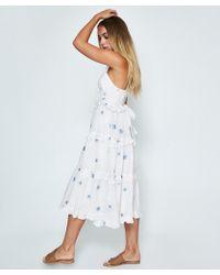 Free People - Daisy Chain Midi Dress White - Lyst