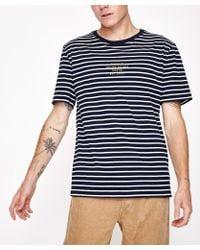 Rhythm - Harry Stripe Short Sleeve T-shirt Navy - Lyst