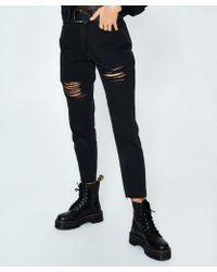 Neon Hart - Maggie Mom Jean Ripped Washed Black - Lyst