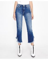 PAIGE - Hoxton Straight Ankle Jean 27 Norfolk Blue - Lyst