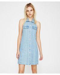 Insight - Amber Denim Halter Dress - Lyst