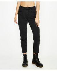 Neon Hart - Maggie Mom Jean Washed Black - Lyst