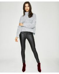Neon Hart - Patti High Waist Super Skinny Coated Black Jean - Lyst