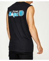 Mitchell & Ness - Triple Double Hwc Muscle Tank Orlando Magic Black - Lyst