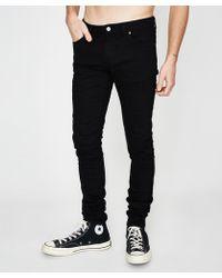 Nudie Jeans - Skinny Lin Jean Org Black Black - Lyst