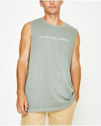 RVCA - Savage Surf Club Muscle Tank Yellow - Lyst