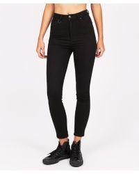 Neuw - Marilyn Ankle Black Silk Jean - Lyst
