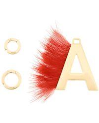 Fendi - Abclick Fur-trimmed Charm - Lyst