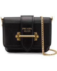e66f426e1c3fd Lyst - Prada Cahier Convertible Belt Bag in Green