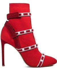 Valentino | Rockstud Bodytech Boots | Lyst