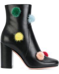 Fendi - Black Leather Boots - Lyst
