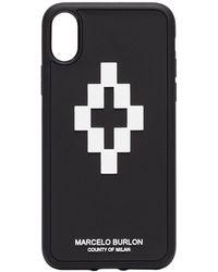 Marcelo Burlon Marcelo Burlon 3d Cross Iphone Xr Case - Black