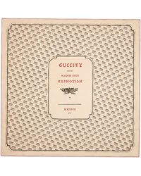 Gucci - Invite Print Silk Scarf - Lyst