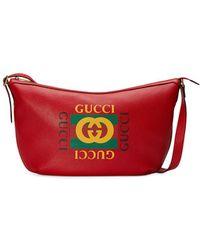 Gucci - Print Half-moon Hobo Bag - Lyst