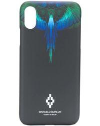 Marcelo Burlon Marcelo Burlon Blue Wings Iphone X Case