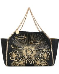 Stella McCartney | Large Embroidered Falabella Shoulder Bag | Lyst