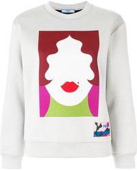 Prada - Face Motif Sweatshirt - Lyst