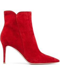 Gianvito Rossi - Levy 85 Suede Ankle Boots - Lyst