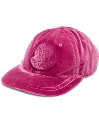 Moncler - Cotton Velvet Baseball With Logo - Lyst