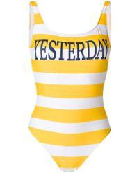 Alberta Ferretti - Striped Swimsuit - Lyst