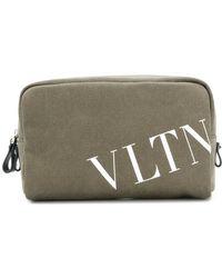 Valentino - Logo Print Wash Bag - Lyst