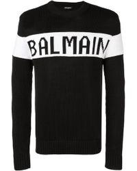 Balmain - Intarsia-knit Jumper - Lyst