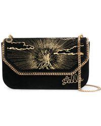 Stella McCartney - Falabella Embroidered Shoulder Bag - Lyst