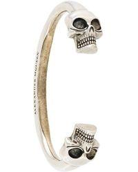 Alexander McQueen - Skull Torque Bangle - Lyst