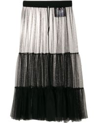 Moncler - Over-the-knee Mesh Skirt - Lyst