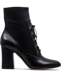 Gianvito Rossi - Mackay Leather Booties - Lyst