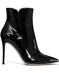 Gianvito Rossi   Levy Leather Ankle Boots   Lyst