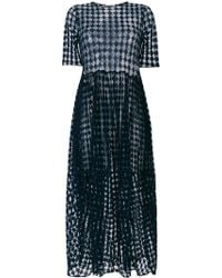 Jil Sander - Sheer Layered Ruched Waist Dress - Lyst