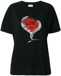 Saint Laurent - Love 1974 T-shirt - Lyst