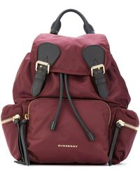 Burberry - Medium Rucksack In Technical Nylon And Leather - Lyst