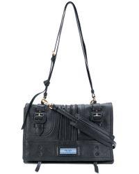 a4f8ef8a2c6a Prada Etiquette Shoulder Bag in Black - Lyst