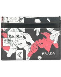 Prada - Comic Motif Clutch - Lyst