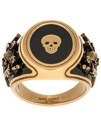 Alexander McQueen - Skull Signet Ring - Lyst